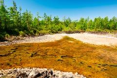 Το νερό στη λάβα Στοκ εικόνες με δικαίωμα ελεύθερης χρήσης