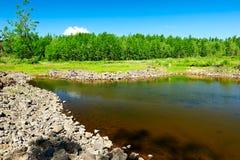 Το νερό στη λάβα Στοκ φωτογραφίες με δικαίωμα ελεύθερης χρήσης