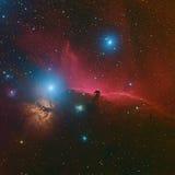 Το νεφέλωμα ή Barnard 33 Horsehead στον αστερισμό Orion που λαμβάνεται με τη κάμερα CCD μέσω του μέσου εστιακού μήκους συμπτύσσει Στοκ εικόνα με δικαίωμα ελεύθερης χρήσης