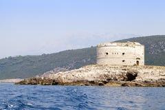 Το νησί το φρούριο, Μαυροβούνιο Στοκ Εικόνες