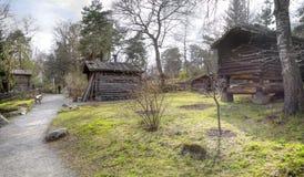 Το νησί Djurgarden, Στοκχόλμη Μουσείο Skansen μπάρμαν στοκ φωτογραφία