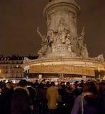 Το Νοέμβριο του 2015 επίθεσης τρόμου του Παρισιού Στοκ Εικόνες