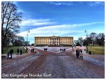 Το νορβηγικό βασιλικό Castle Στοκ Φωτογραφία