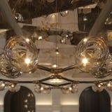 Το ντεκόρ βολβών φωτισμού, κλείνει επάνω Στοκ Φωτογραφίες