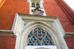 Το ντεκόρ παραθύρων αποκομάτων Γοτθικό κτήριο Ρωσία Άγιος-Πετρούπολη peterhof Στοκ φωτογραφίες με δικαίωμα ελεύθερης χρήσης
