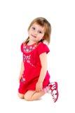 το ντυμένο κορίτσι απομόνω& Στοκ Εικόνες
