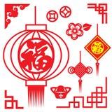 Το νόμισμα Κίνα χρημάτων λουλουδιών πλαισίων φαναριών conner και ο κόμβος της Κίνας και η κινεζική λέξη σημαίνουν την ευτυχία απεικόνιση αποθεμάτων