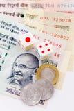 το νόμισμα χωρίζει σε τετράγωνα Ινδό Στοκ εικόνα με δικαίωμα ελεύθερης χρήσης