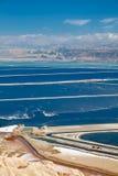 Νεκρή θάλασσα εγκαταστάσεων λιμνών. Στοκ Εικόνα