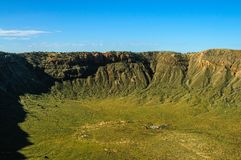 Το νότιο πλαίσιο του κρατήρα μετεωριτών στοκ εικόνες