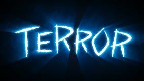 Το νύχι πετσοκόβει το μπλε τρόμου διανυσματική απεικόνιση