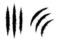 Το νύχι τεράτων, γρατσουνιά χεριών, σχίζει μέσω του άσπρου υποβάθρου Στοκ εικόνα με δικαίωμα ελεύθερης χρήσης