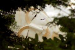 Το ξάπλωμα του Βούδα, κοιτάζει μέσω του Μπους που αντιμετωπίζει και μάτια Στοκ φωτογραφία με δικαίωμα ελεύθερης χρήσης