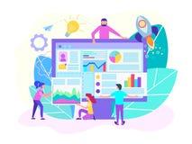 Το ξεκίνημα Διαδικτύου, οι ιδρύσεις επιχείρησης υποστήριξης Ιστού, οι προγραμματιστές και οι αναλυτές αναπτύσσουν το λογισμικό γι στοκ φωτογραφίες με δικαίωμα ελεύθερης χρήσης