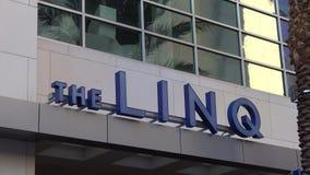 Το ξενοδοχείο και η χαρτοπαικτική λέσχη Linq στο Λας Βέγκας - ΗΠΑ 2017 απόθεμα βίντεο