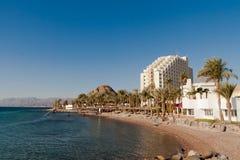 Το ξενοδοχείο και η χαρτοπαικτική λέσχη είναι στην ακτή της Ερυθράς Θάλασσας Αίγυπτος Στοκ Εικόνα