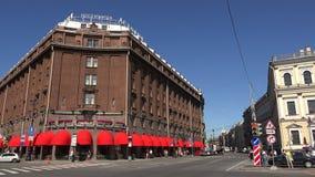 Το ξενοδοχείο Astoria Άγιος-Πετρούπολη 4K απόθεμα βίντεο