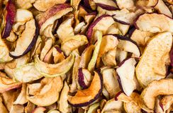 Το ξηρό μήλο τεμαχίζει τη σύσταση υποβάθρου στοκ εικόνα με δικαίωμα ελεύθερης χρήσης