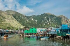 Το ξυλοπόδαρο στεγάζει Tai Ο Lantau το Χονγκ Κονγκ νησιών Στοκ Εικόνες