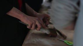 Το ξύλο βουρτσίσματος απόθεμα βίντεο