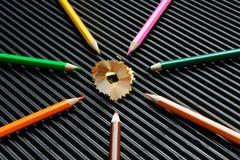 Το ξύρισμα μολυβιών Στοκ Εικόνες