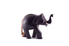 Το ξύλινο άγαλμα του ελέφαντα μαύρου και καφετιού Στοκ Εικόνες