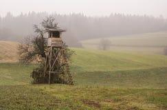 Το ξύλινο κυνήγι κατοικεί στον τομέα Στοκ εικόνα με δικαίωμα ελεύθερης χρήσης