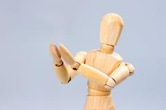 Το ξύλινο μανεκέν επιδοκιμάζει Στοκ Φωτογραφία