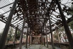 Το ξύλινο περίπτερο, ασιατικό ύφος Στοκ φωτογραφίες με δικαίωμα ελεύθερης χρήσης