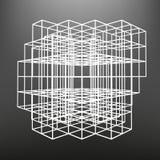 Το ξύλινο πλαίσιο φιαγμένο από χωρίζει σε τετράγωνα στις προοπτικές Το υπόβαθρο των αντικειμένων οθόνης Στοκ εικόνα με δικαίωμα ελεύθερης χρήσης
