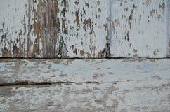Το ξύλο χρωμάτισε μια εξασθενισμένη παλαιά αποφλοίωση χρωμάτων από μια ζάλη που στερεώθηκε Στοκ εικόνες με δικαίωμα ελεύθερης χρήσης