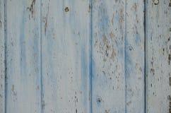 Το ξύλο χρωμάτισε μια εξασθενισμένη παλαιά αποφλοίωση χρωμάτων από μια ζάλη που στερεώθηκε Στοκ Εικόνα