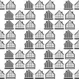 Το λογότυπο του σπιτιού Διανυσματικό έμβλημα απεικόνισης ελεύθερη απεικόνιση δικαιώματος