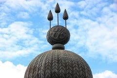 Το λογότυπο του ταϊλανδικού βασιλιά στοκ φωτογραφίες