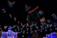 Το οικογενειακό θέαμα Osborne των φω'των χορού στη Disney Hollywo Στοκ εικόνες με δικαίωμα ελεύθερης χρήσης