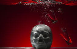 Το οινόπνευμα είναι ένα δηλητήριο Στοκ φωτογραφίες με δικαίωμα ελεύθερης χρήσης