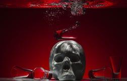 Το οινόπνευμα είναι ένα δηλητήριο Στοκ εικόνα με δικαίωμα ελεύθερης χρήσης
