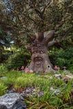 Το ομιλούν δέντρο παραμυθιού στο δάσος παραμυθιού στο θέμα Στοκ εικόνα με δικαίωμα ελεύθερης χρήσης