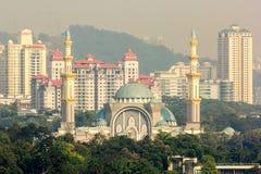 Το ομοσπονδιακό μουσουλμανικό τέμενος εδαφών στη Κουάλα Λουμπούρ, Μαλαισία στοκ φωτογραφίες
