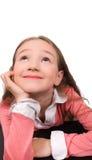 το ονειρεμένος κορίτσι απομόνωσε ελάχιστα Στοκ φωτογραφία με δικαίωμα ελεύθερης χρήσης