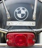 Το οπίσθιο φρένο ανάβει τη μοτοσικλέτα BMW R75/5 Στοκ Εικόνες