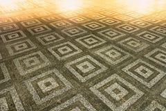 Το ορθογώνιο σχέδιο επίγειων πετρών Στοκ εικόνα με δικαίωμα ελεύθερης χρήσης