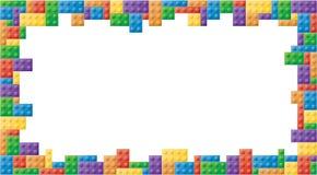 Το ορθογώνιο χρωμάτισε το πλαίσιο εικόνων φραγμών Στοκ εικόνα με δικαίωμα ελεύθερης χρήσης
