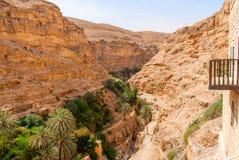Το ορθόδοξο μοναστήρι του ST George βρίσκεται σε Wadi Qelt στοκ εικόνα με δικαίωμα ελεύθερης χρήσης