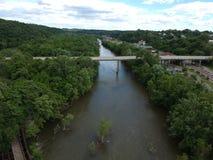 Το ορμώντας νερό του ποταμού του James στοκ φωτογραφία με δικαίωμα ελεύθερης χρήσης