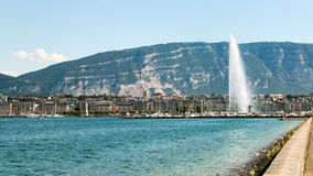 Το ορόσημο αεριωθούμενο d& x27 EAU της Γενεύης, Ελβετία Στοκ φωτογραφίες με δικαίωμα ελεύθερης χρήσης