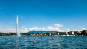 Το ορόσημο αεριωθούμενο d& x27 EAU της Γενεύης, Ελβετία Στοκ Εικόνα