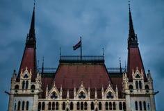 Το ουγγρικό Κοινοβούλιο σε Budabest στοκ εικόνα