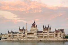 Το ουγγρικό Κοινοβούλιο στη Βουδαπέστη, Ουγγαρία Στοκ Εικόνες