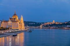 το ουγγρικό Κοινοβούλ&iot Στοκ Φωτογραφίες